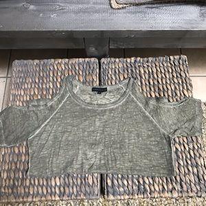 Sanctuary Shoulder-less Shirt Sleeve Shirt